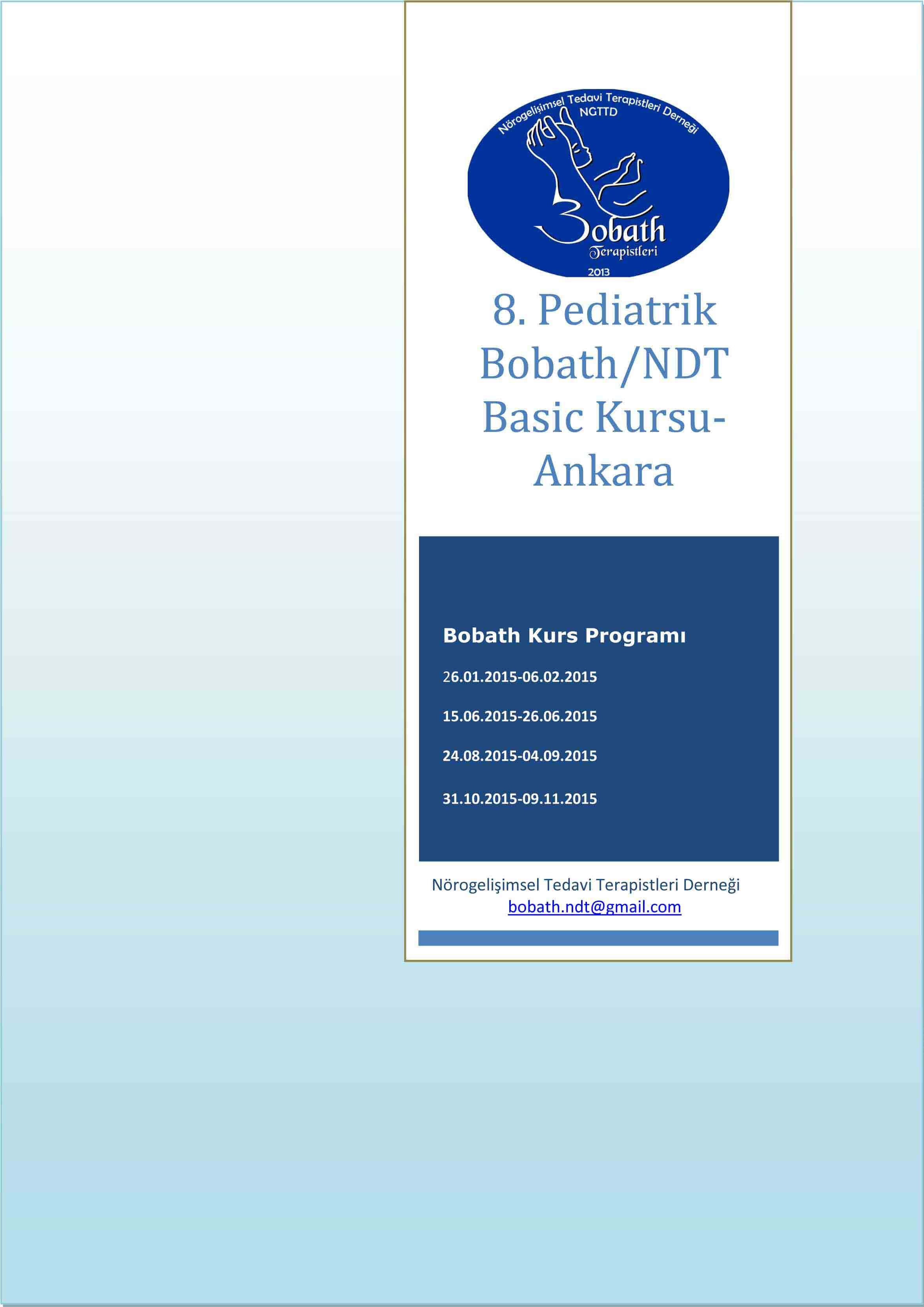 8. Pediatrik Bobath/NDT Basic