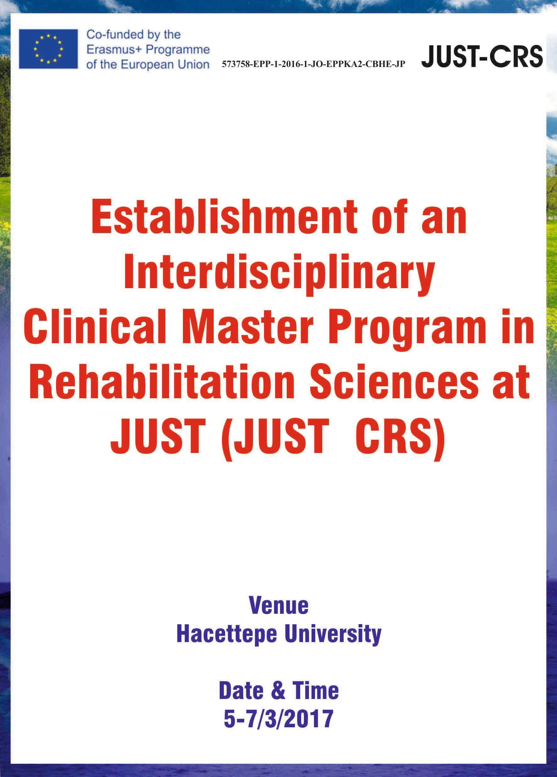 Establishment of an Interdisciplinary Clin. Master Porgram in Rehabilitation Sci. at JUST